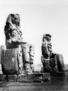 The Colossi of Memnon, Thebes, Nubia, Egypt, 1878 by Felix Bonfils