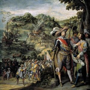 Recuperación De La Isla De San Cristóbal, 1634 by Felix Castello