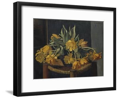 Double Yellow Tulips on a Wicker Chair, 1923