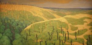 Le Bois de la Gruerie et le Ravin des Meurissons 1917 by Felix Edouard Vallotton