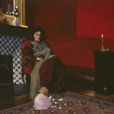 Madame Vallotton and Her Niece, Germaine Aghion, 1899