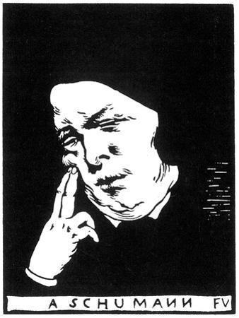 Robert Schumann (1810-185), 1893 by Felix Edouard Vallotton