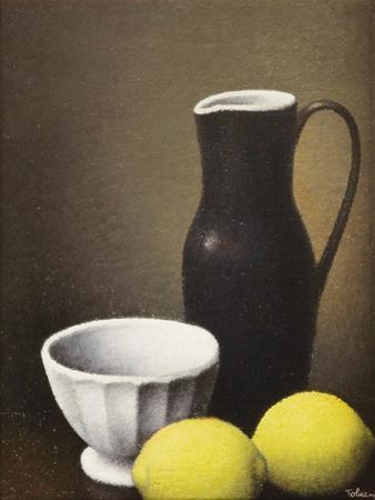 Bowl and Lemons, c.1930 by Felix Elie Tobeen