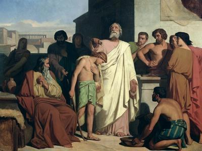 Annointing of David by Saul, 1842