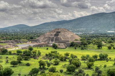 The Ancient Pyramid of the Moon. the Second Largest Pyramid in Teotihuacan, Mexico by Felix Lipov
