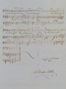 Autograph Manuscript D of 'Im Fruhling', Opus 9 No 4, Dated 6/12/1845, 2 Pages, 55 Bars by Félix Mendelssohn-Bartholdy