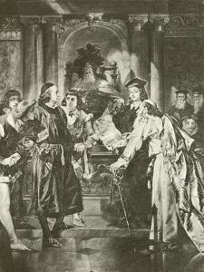 Merchant of Venice. Act Iv-Scene I by Felix Octavius Carr Darley