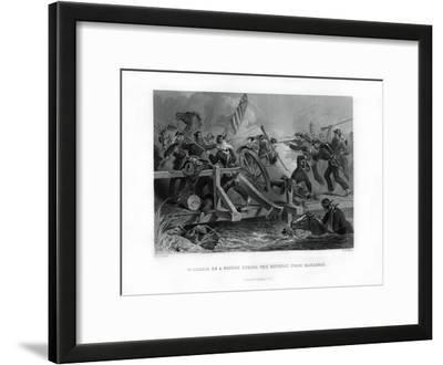 Struggle on a Bridge During the Retreat from Manassas, Virginia, (1862-186)