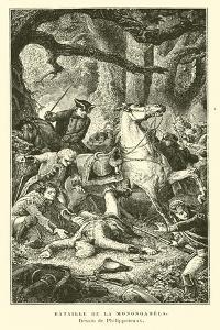 Battle of the Monogahela, 1755 by Felix Philippoteaux