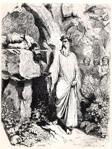 """Human Sacrifice by a Gaulish Druid, from """"Histoire De France"""" by L.P. Anquetil, 1851 by Felix Philippoteaux"""