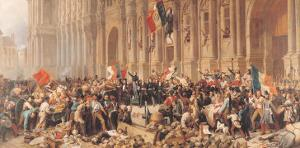 Lamartine Rejects the Red Flag in 1848 by Felix Philippoteaux