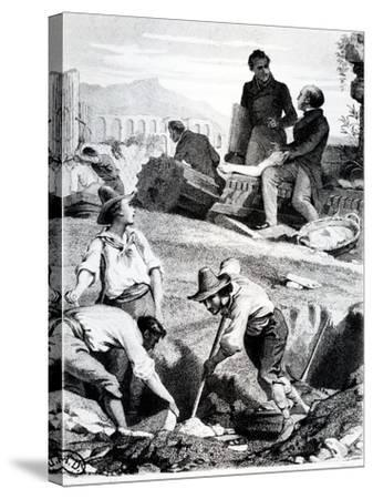 The Excavations at Torre Vergata, from 'Memoires D'Outre-Tombe' by Chateaubriand, 1850 (Litho)