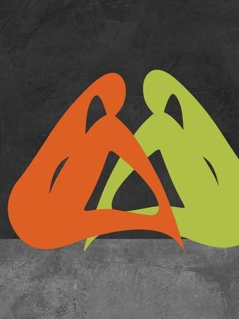 Orange and Green Women