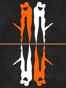 Orange and White Kiss by Felix Podgurski