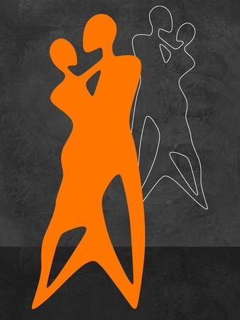 Orange Couple Dancing