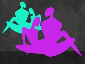 Purple and Blue Couples by Felix Podgurski