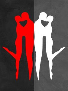 Red Kiss Reflection by Felix Podgurski