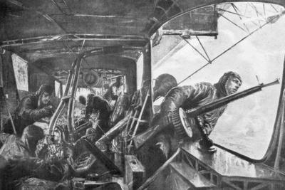 On Board a Zeppelin, German Air Fleet, First World War, 1917