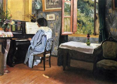 A Woman at the Piano by Félix Vallotton