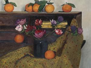 Anemones and Oranges, 1924, 1924 by Félix Vallotton