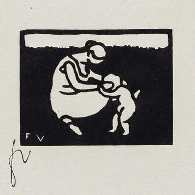Bather with a Child, IX from 'Les Petites Baigneuses', 1893 by Félix Vallotton