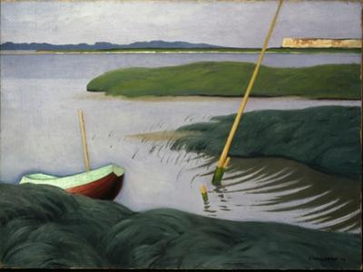 Boat at Berville, 1918 by Félix Vallotton