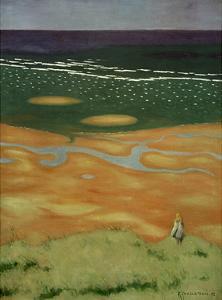 High Tide Near Houlgate by Félix Vallotton