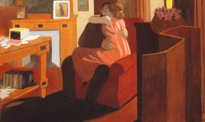 Intimacy, Couple in an Interior with a Partition, 1898 by Félix Vallotton