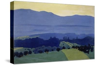 Jura Mountains landscape near Romanel. 1901