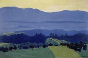 Jura Mountains landscape near Romanel. 1901 by Felix Vallotton