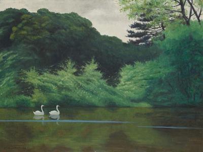 L'Ile Du Lac Saint-James, 1922 by Félix Vallotton