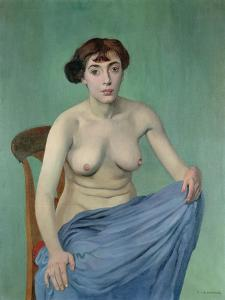 Nude in Blue Fabric, 1912 by Félix Vallotton