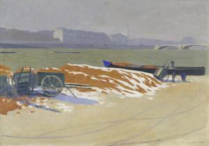 Quai de Seine. 1901 by Felix Vallotton