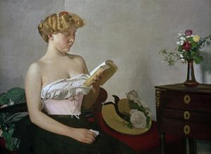 Reading Woman by Félix Vallotton