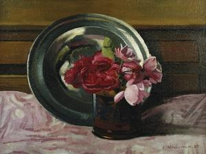 Still Life with Roses; Nature Morte Aux Roses, 1920 by Félix Vallotton