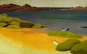 The Bay of Tregastel by Félix Vallotton