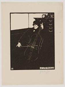 The 'Cello, from the Series 'Musical Instruments', 1896-97 by Félix Vallotton