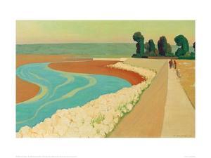 The Embankment of Honfleur by Félix Vallotton