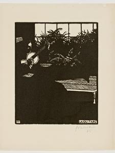 The Guitar, from the Series 'Musical Instruments', V, 1897 by Félix Vallotton