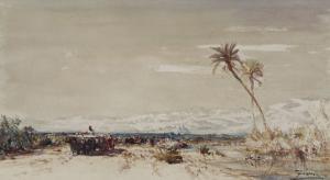 Beyrouth, les deux palmiers by Félix Ziem
