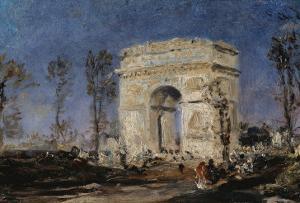 L'Arc de Triomphe de l'Etoile by Félix Ziem
