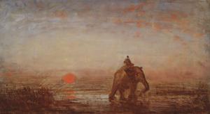 L'éléphant by Félix Ziem