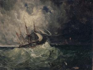 La tempête by Félix Ziem