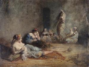 Le harem by Félix Ziem