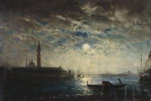 Venise et le Campanile au clair de lune by Félix Ziem