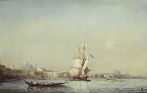 Vue de Constantinople by Félix Ziem