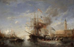 Vue de Venise by Félix Ziem