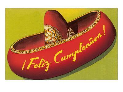 Feliz Cumpleanos on Sombrero--Art Print