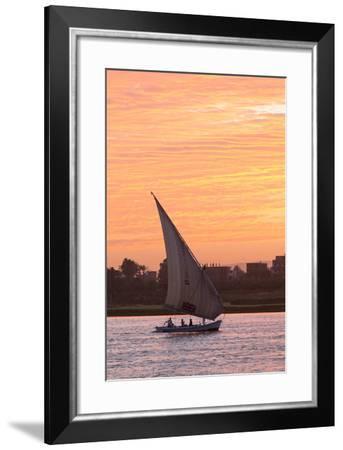 Felucca on the Nile River, Luxor, Egypt, North Africa, Africa-Richard Maschmeyer-Framed Photographic Print