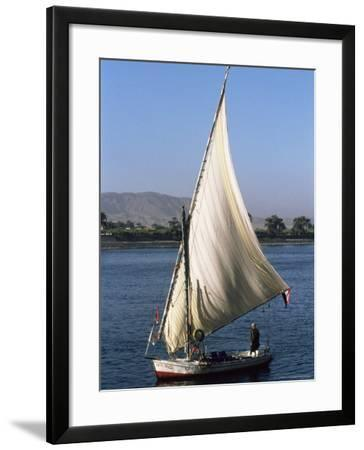 Felucca on the River Nile, Egypt, North Africa, Africa-Guy Thouvenin-Framed Photographic Print